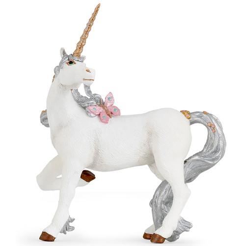 Silver Unicorn Papo