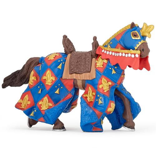Fleur de Lys Blue Horse