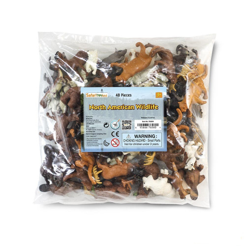 North American Wildlife Bulk Bag 48pc