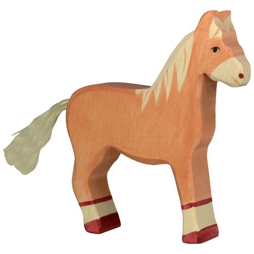 Horse Light Brown Holztiger
