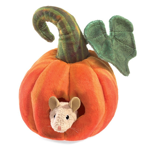 Mouse in a Pumpkin Puppet