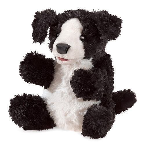Black and White Dog Small Puppet