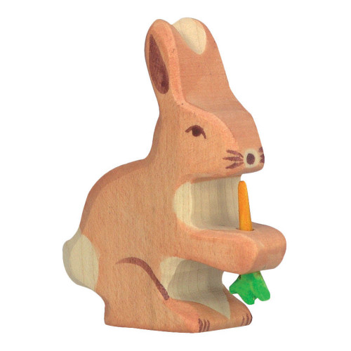 Rabbit with Carrot Holztiger