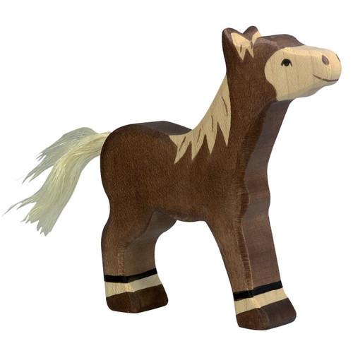 Foal Dark Brown Holztiger