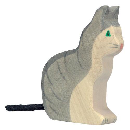 Cat Sitting Holztiger
