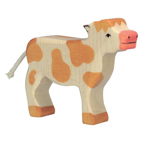 Calf Standing Brown Holztiger