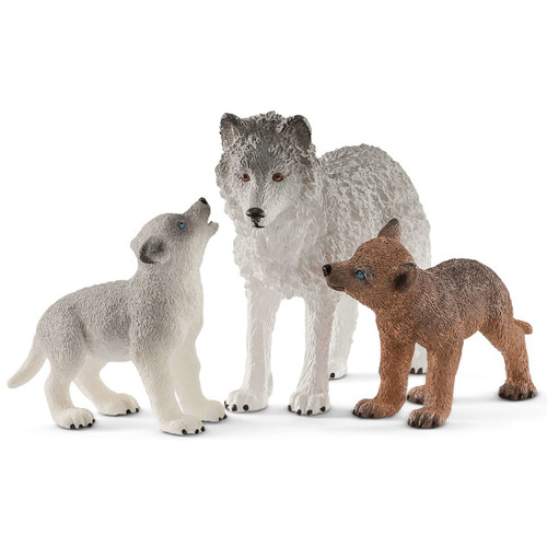 Wolf Mother with Pups