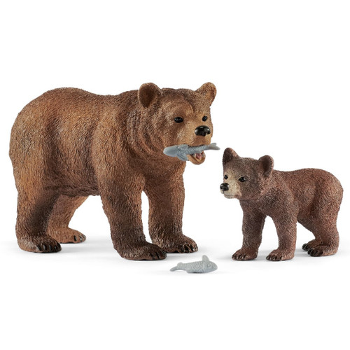 Grizzly Bear Mother with Cub