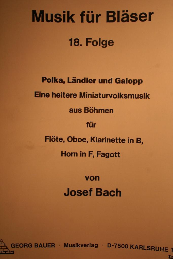 Bach, Josef - Polka, Landler & Galopp