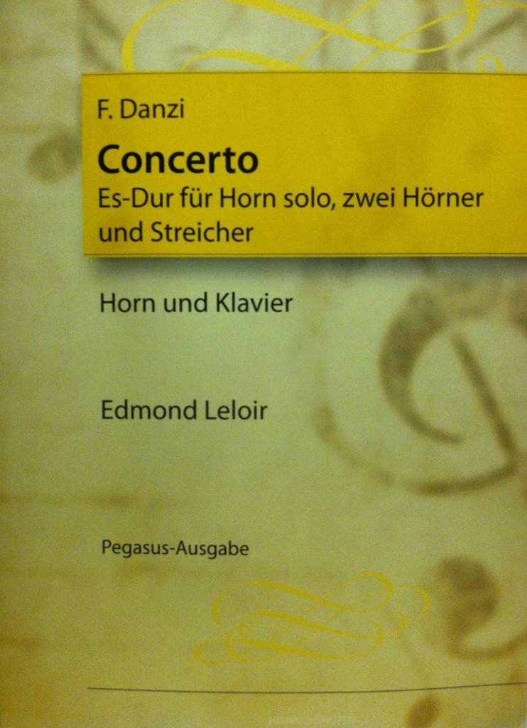 Danzi, Franc - Concerto in E-flat Major (image 1)