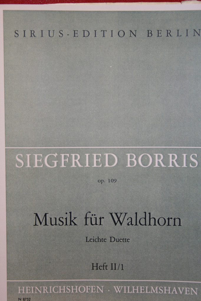 Borris, Siegfried - Easy Duets For Two Horns