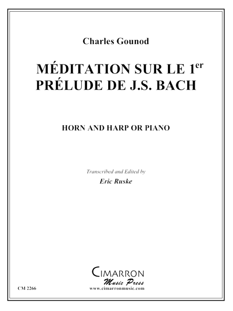 Gounod, Charles – Meditation on Bach's 1st Prelude (image 1)