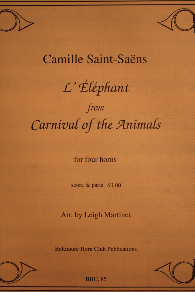 L Elephant Carnival Of The Animals Saint-Saens, Camille -...