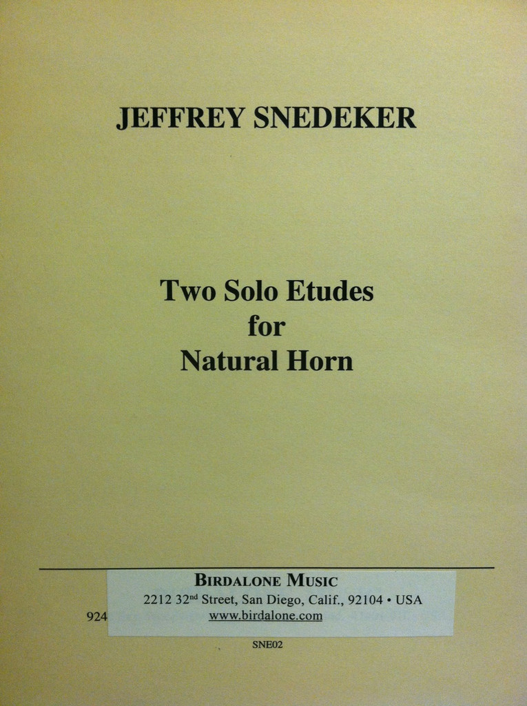 Snedeker, Jeffrey - Two Solo Etudes (image 1)