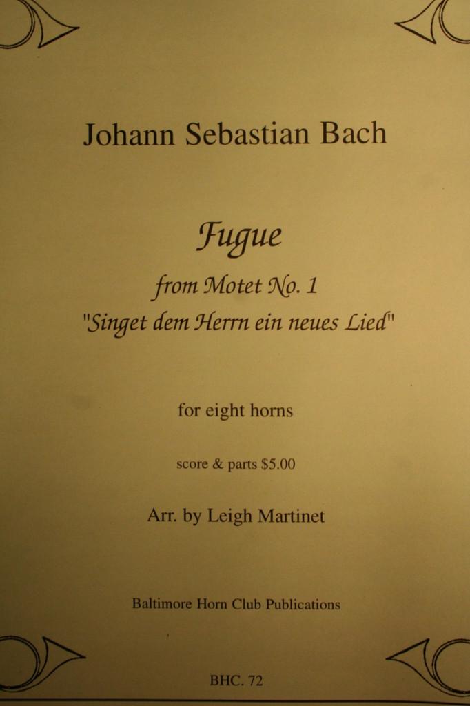 "Bach, J.S. - Fugue (from ""Motet No. 1"")"