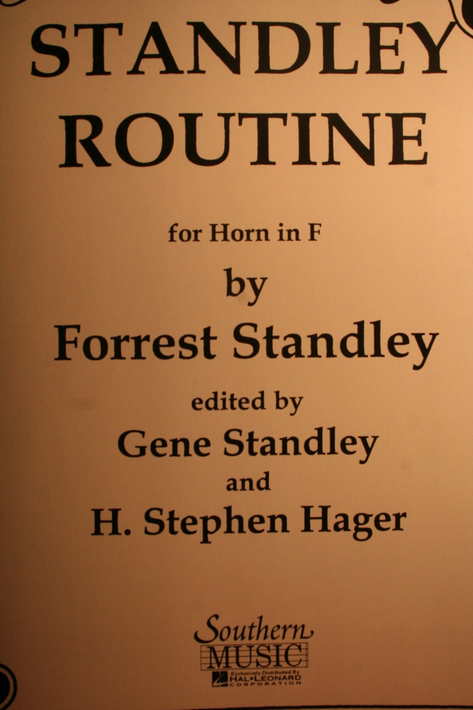 Standley, Forrest - Standley Routine For Horn In F