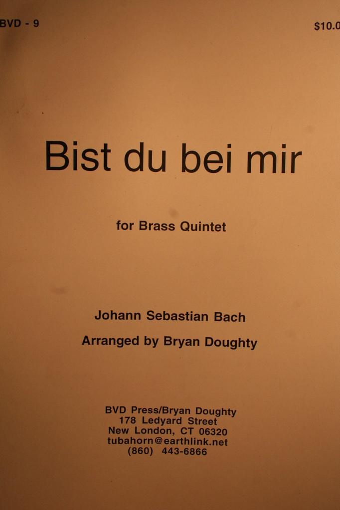 Bach, J.S. - Bist Du Bei Mir (Brass Quintet)