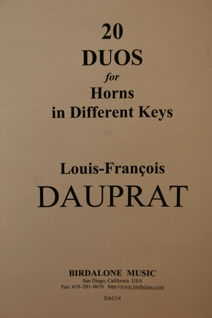 Dauprat - 20 Duos for Horns