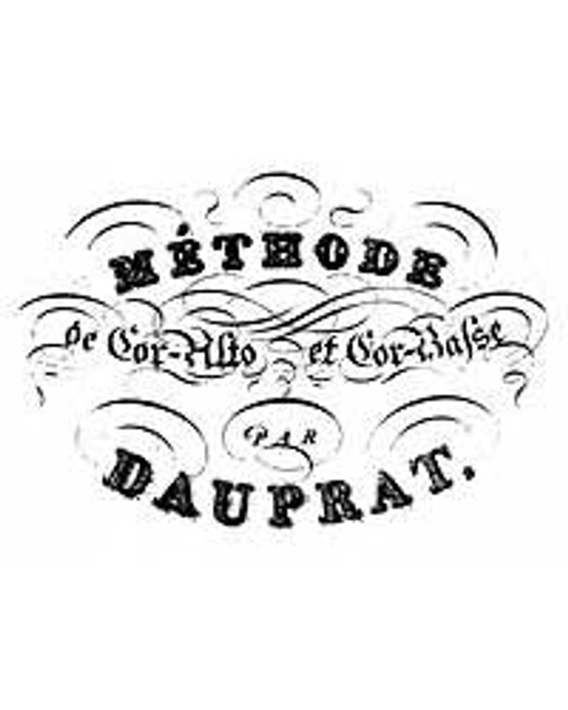 Dauprat, Louis-Francois Method for Cor Alto and Cor Basse (Paris 1824)