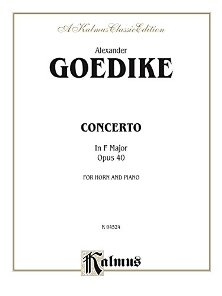 Goedike, Alexander - Concerto in F Major, Op. 40 (image 1)