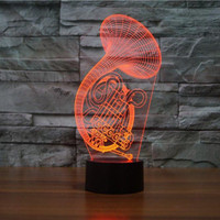 French Horn 3D Lamps