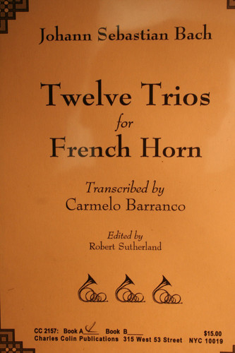 Bach, J.S. - Twelve Trios for French Horn