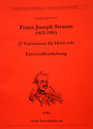 Strauss, Franz - 32 Variations for Solo Horn (image 1)