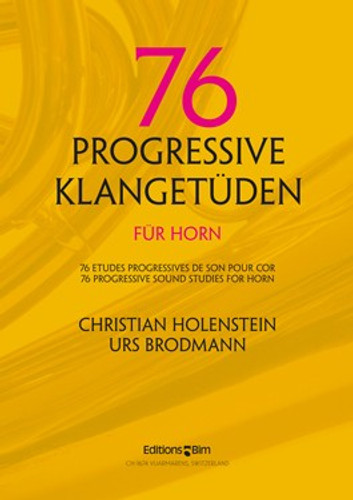 Holenstein, Christian / 76 Progressive Klangetuden for horn