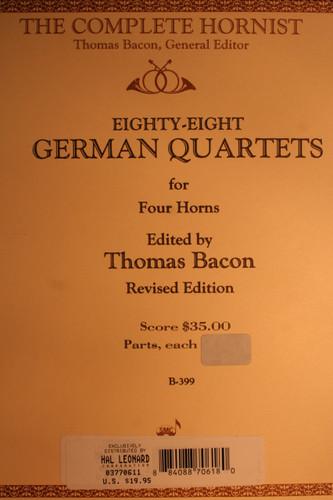 Bacon - German Quartets Hn4 (B.C.)