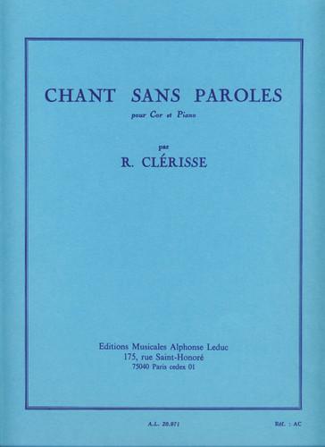 Clerisse, Robert - Chant Sans Paroles