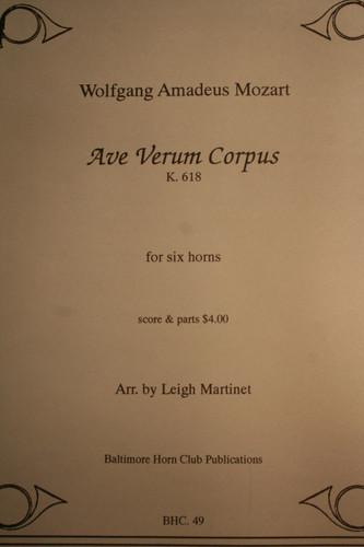 Mozart, W.A. - Ave Verum Corpus (K.618) for Horn Sextet