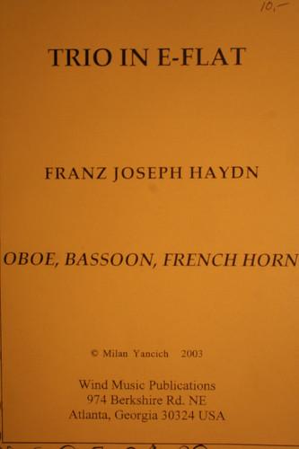 Haydn, F.J. - Trio In Eb