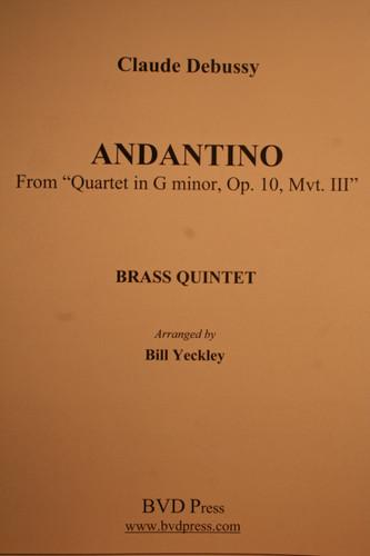 "Debussy, Claude - Andantino From ""Quartet In G Minor, Op. 10, Mvt. III"""