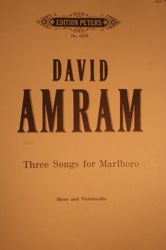 Amram, David - Three Songs For Marlboro