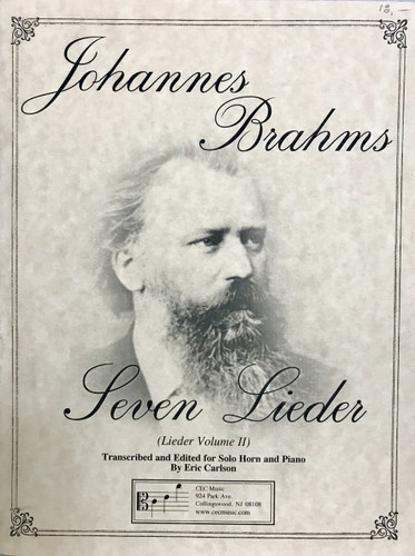 Brahms, J.S. - Seven Lieder (Volume 2)