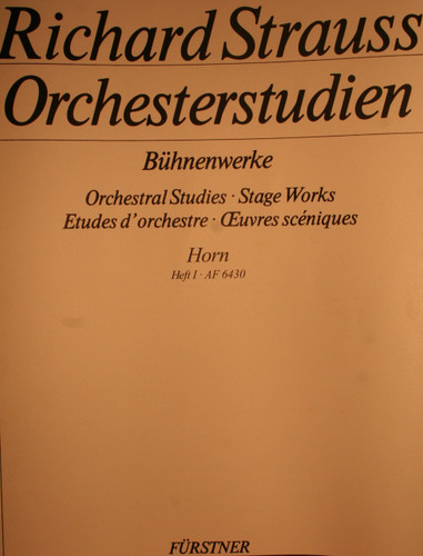 Strauss, Richard - Orchestral Studies, Vol. 1