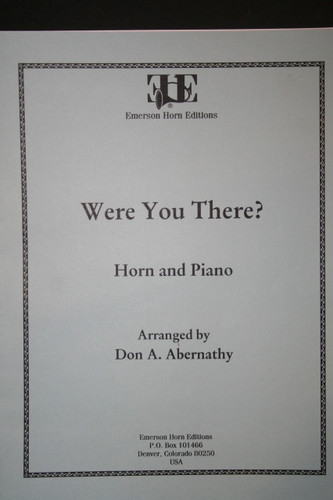 Traditional - Were You There (Arranged by Don A. Abernathy) (image 1)