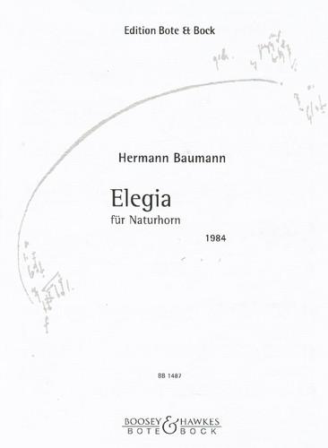 Baumann, Hermann - Elegia (for Natural Horn)
