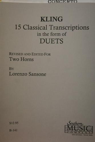 Kling - 15 Classical Transcriptions