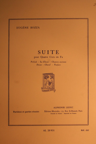 Bozza, Eugene - Suite