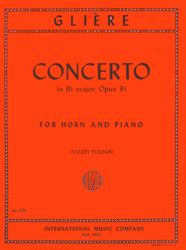 Gliere, Reinhold - Concerto in Bb Major, Op. 91 (image 1)