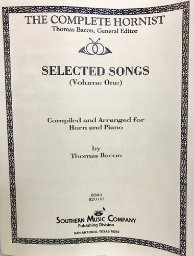 Bacon, Thomas - Selected Songs, Vol. 1 (image 1)