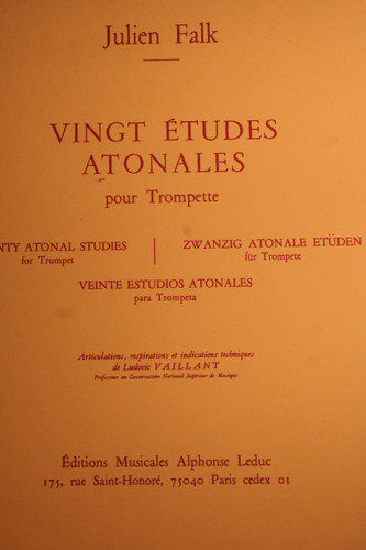 Falk, Julien - Twenty Atonal Studies (for Trumpet)