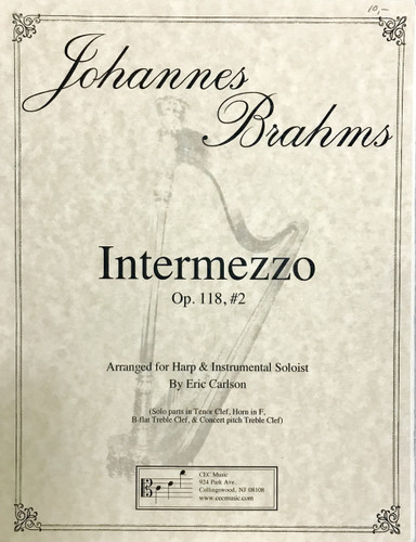 Brahms, J.S. - Intermezzo, Opus 118 No. 2 (image 1)