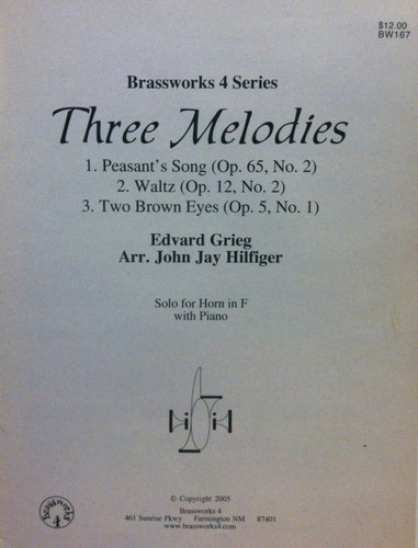 Grieg, Edvard - Three Melodies (image 1)