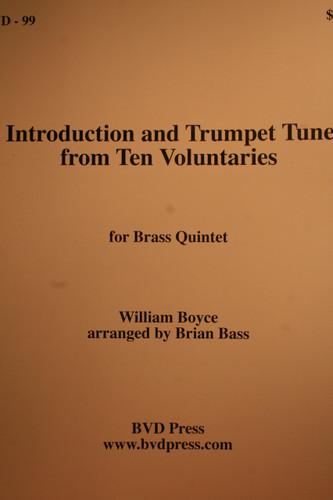 Boyce, William - Introduction And Trumpet Tune From Ten Voluntaries