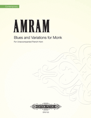 Amram, David - Blues and Variations for Monk for Solo Unaccompanied Horn (image 1)