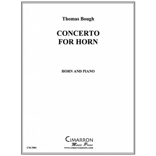 Bough, Thomas - Concerto for Horn