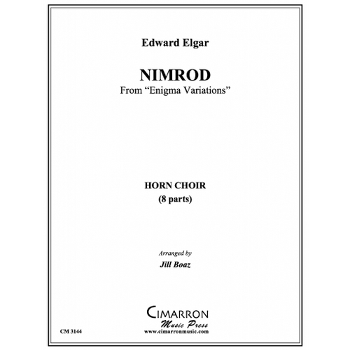 "Elgar, Edward - Nimrod from ""Enigma Variations"" for 8 Horns, arr. Jill Boaz"