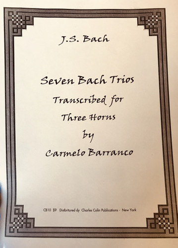 Bach, J. S. - Seven Bach Trios (Transcribed by Carmelo Barranco)